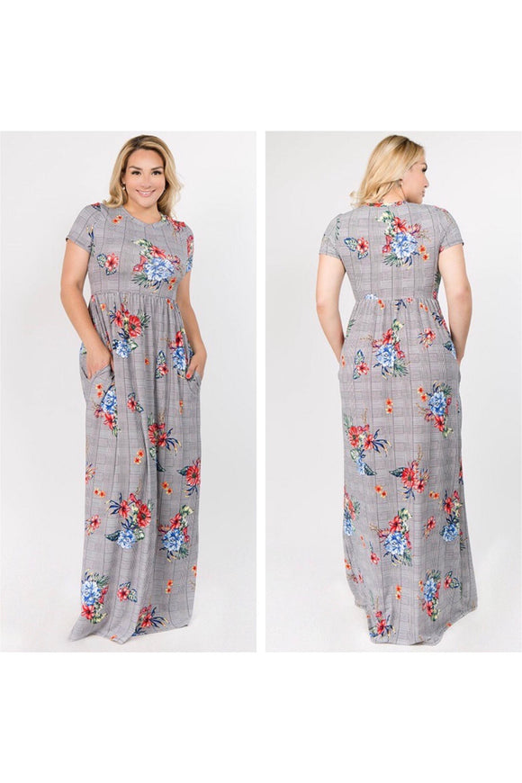 Plus Size Maxi Dress with Pockets