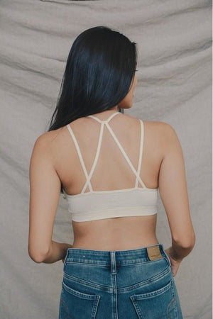 Seamless Crop Top (Ivory or Black)