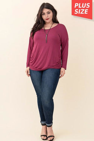 Curvy Side Cinched Top
