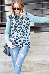 Long Sleeve Cheetah Print Top