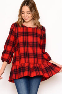 Buffalo Plaid Flannel Top