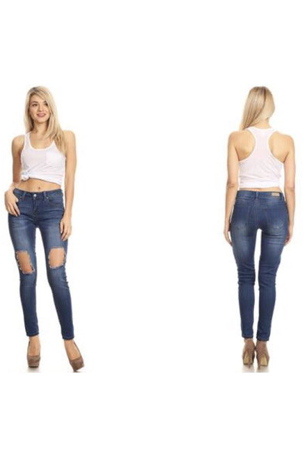 The Best Skinny Jeans Ever with Big Hole