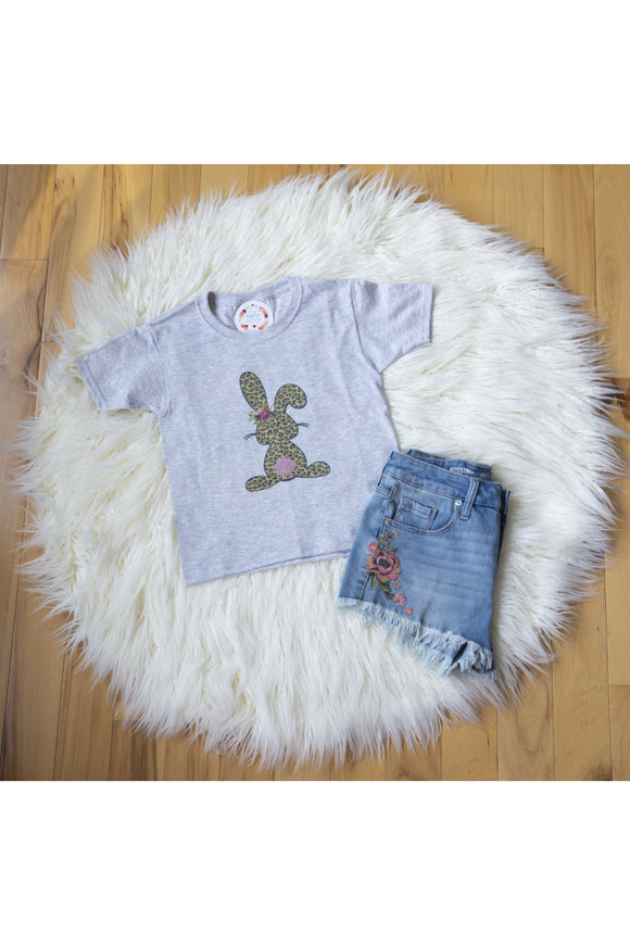 Youth Leopard Bunny Tee