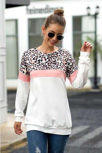 Touch of Pink Leopard Tunic