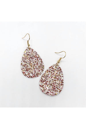 Itty Bitty Glitter Leather Earrings