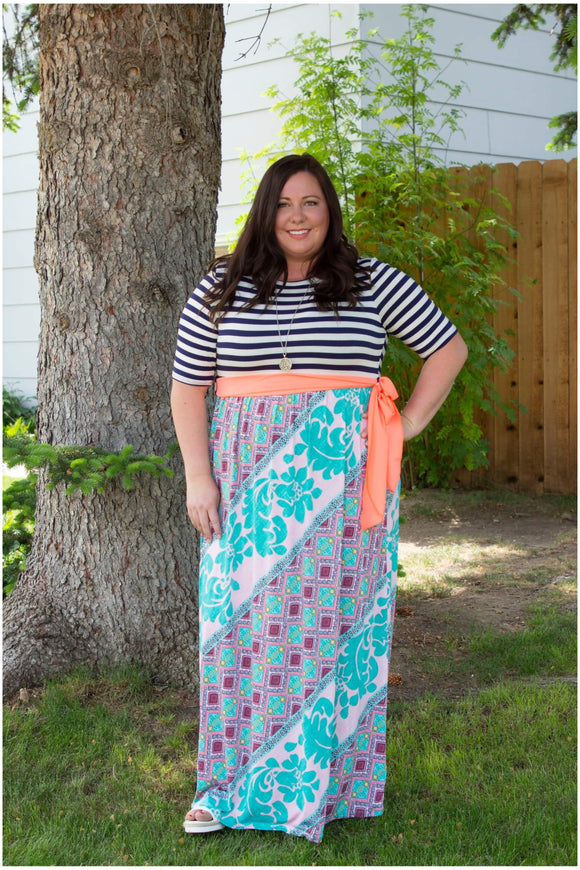 Curvy Hello Lovely Boho Dress