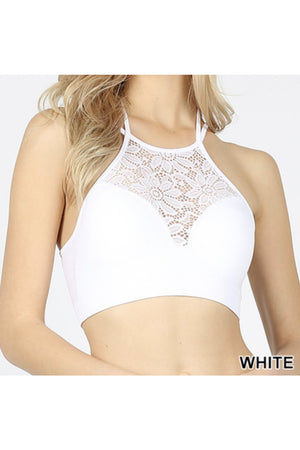 Seamless Crop Top 2 (White, Wine, Gray)