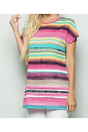 Curvy Serape Open Back Top