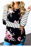 Floral Stripe Greatness Top