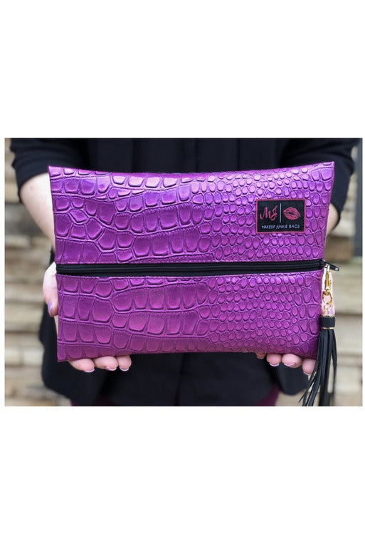 Purple Kinda Pink Makeup Junkie Bag