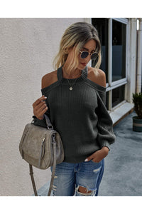 Sexy Cold Shoulder Sweater