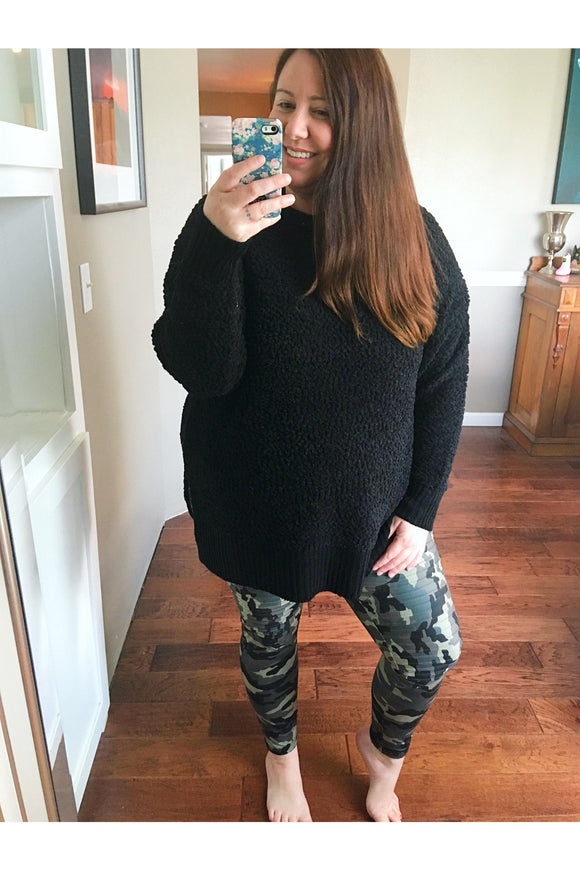 Curvy Camo Motto Leggings