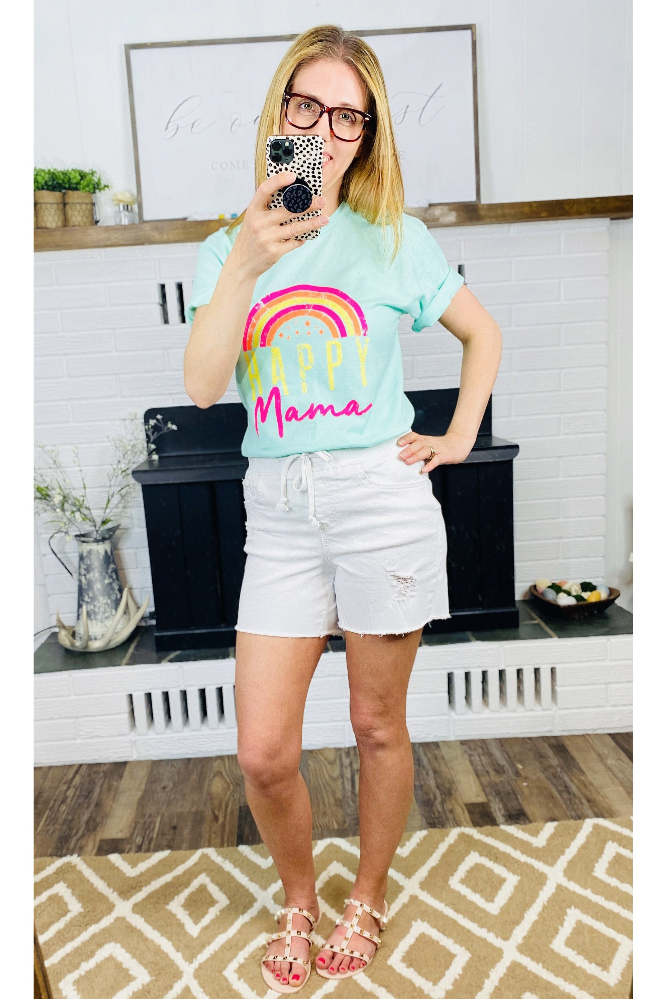 Rainbow Happy Mama Tee