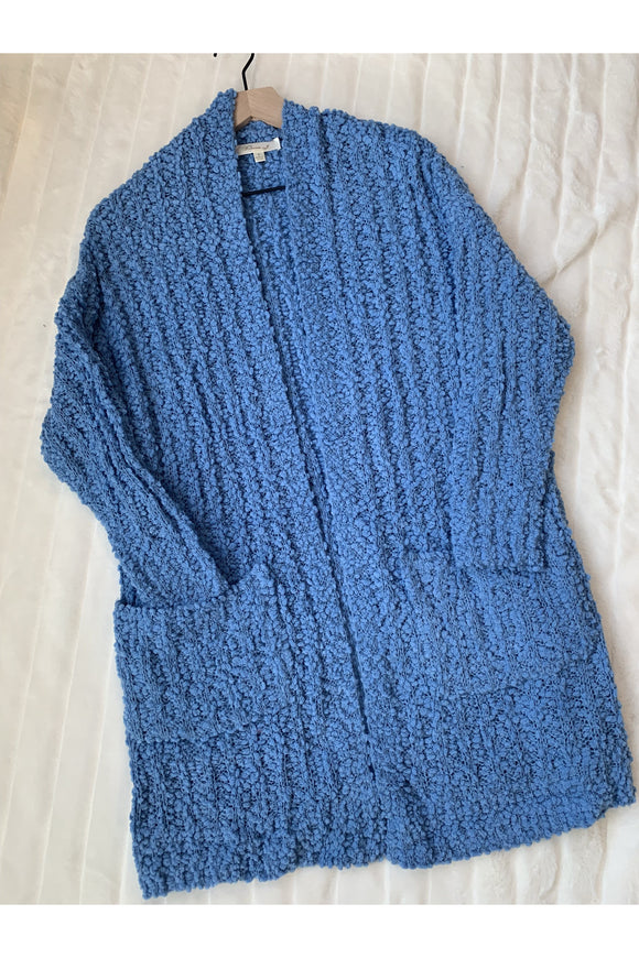 Popcorn Cardigan (Denim Blue)