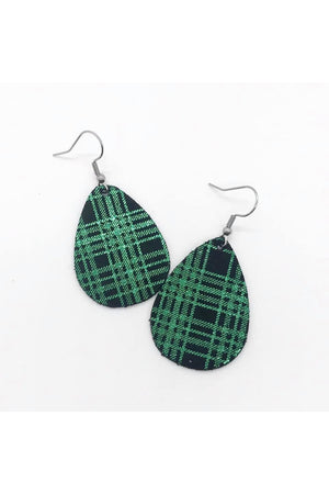 Itty Bitty Metallic Plaid Earrings