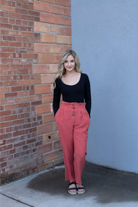 Brick Button-Up Pants