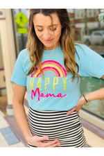 Load image into Gallery viewer, Rainbow Happy Mama Tee