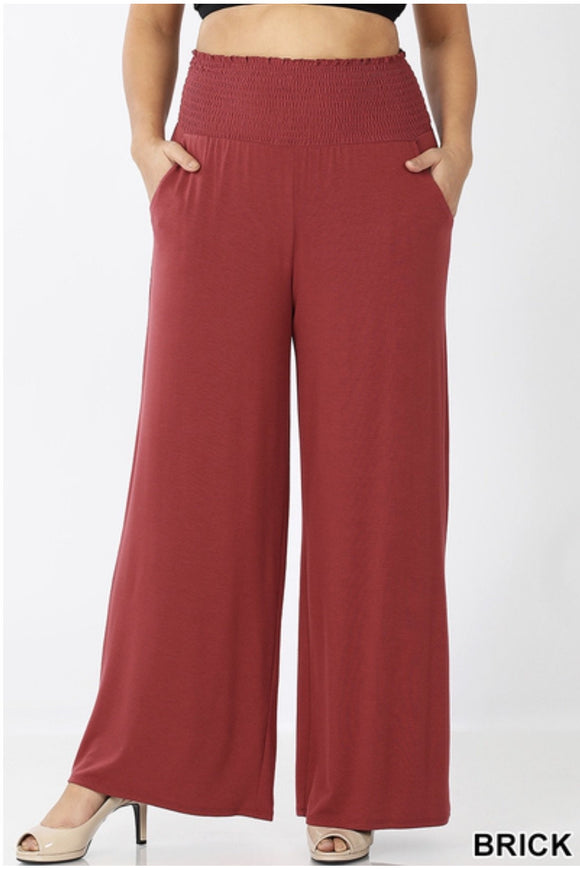 Curvy Smocked Lounge Pants