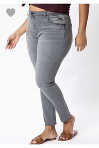 In Stock Curvy Kan Can Gray Jeans