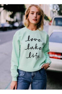In stock Love Lake Life Sweatshirt