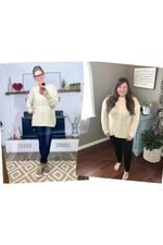 Load image into Gallery viewer, Ivory Chunky Braided Sweater