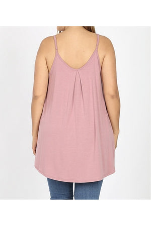 Curvy Pleated Cami Top