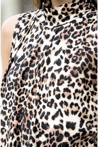 Leopard High Neck Tank Top