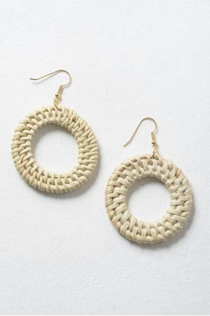 Ivory Wicker Earrings