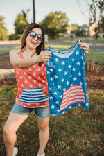 Load image into Gallery viewer, USA Stars & Stripes Tank Tops