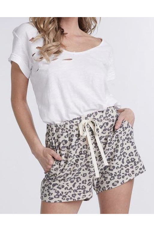 All About the Comfort Leopard Shorts