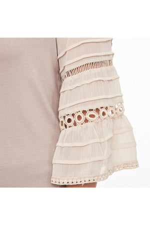 Curvy Lace Sleeve Top