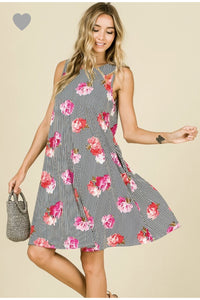 Floral Stripe Perfection Dress