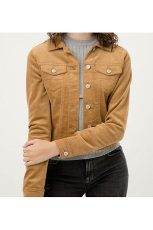 Curvy Corduroy Button Up Jacket