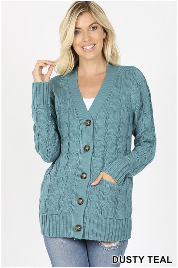 Cable Sweater Cardigan