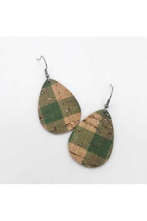 Itty Bitty Cork & Leather Earrings