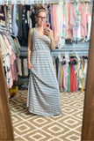 V-Neck Ribbed Maxi Dress