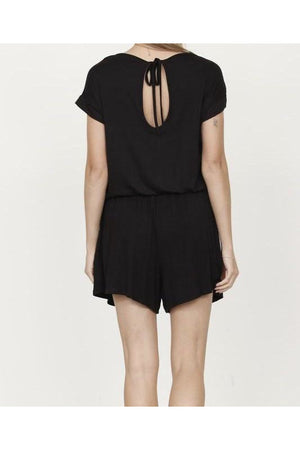 Solid Black Summer Romper