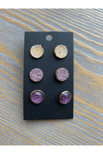 Load image into Gallery viewer, Druzy Earring Set