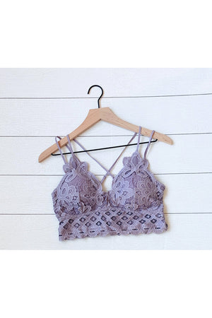 Curvy Double Strapped Lace Bralette