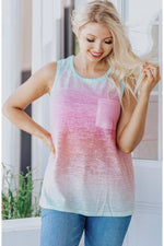 Load image into Gallery viewer, RESTOCKED Ombre Pocket Tank Top
