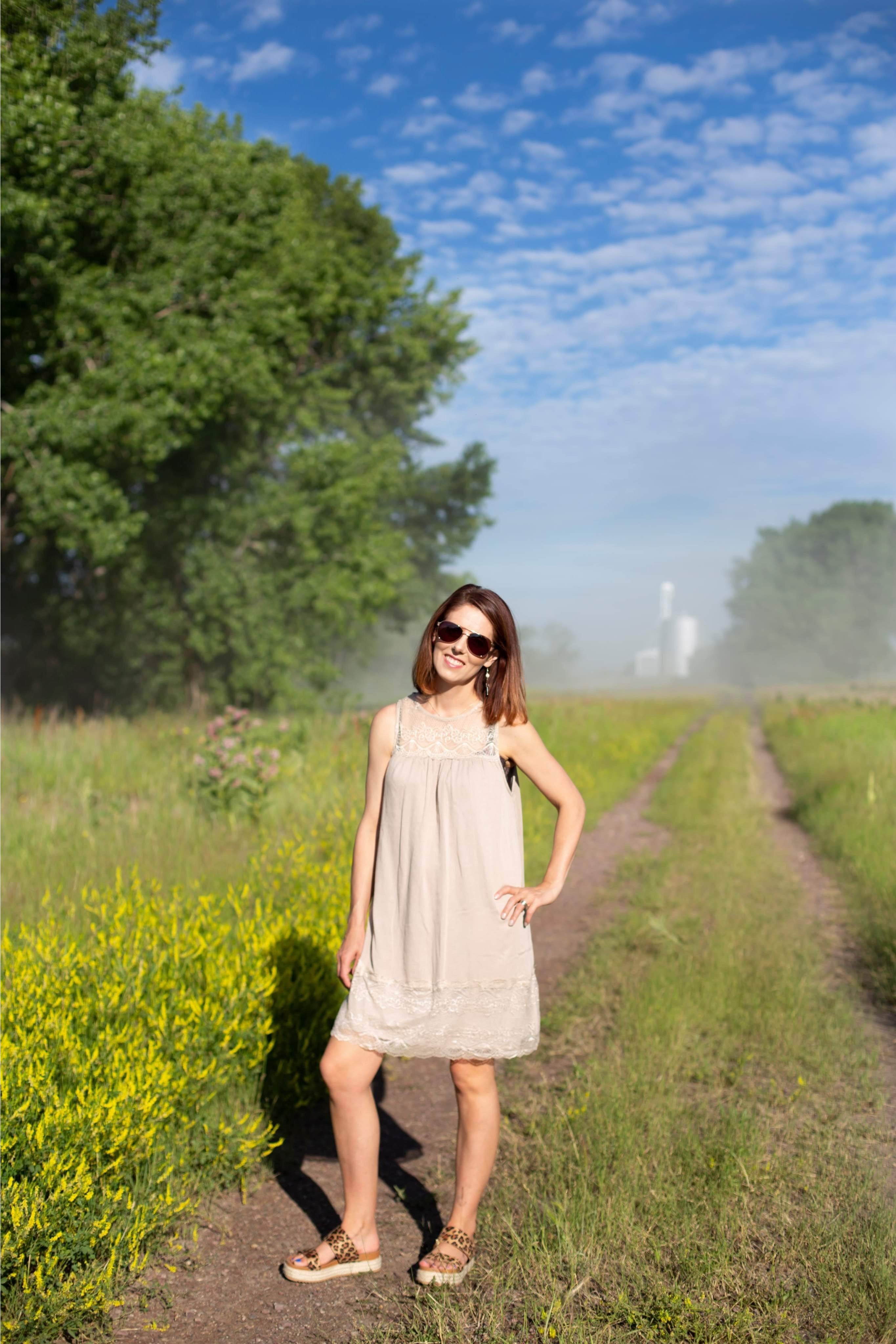Taupe Lace Dress