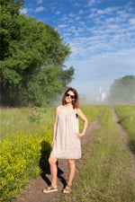 Load image into Gallery viewer, Taupe Lace Dress