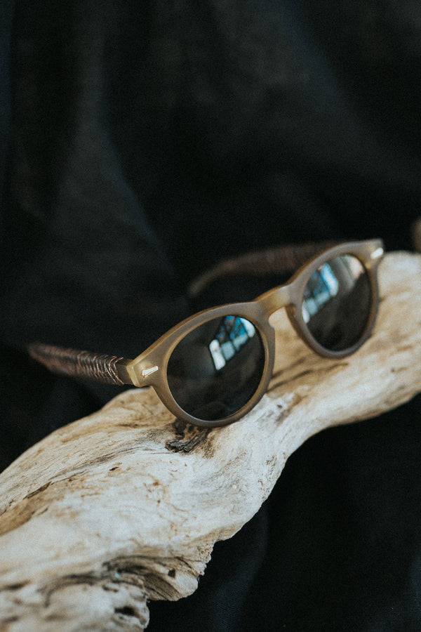 Brown matte sunglasses