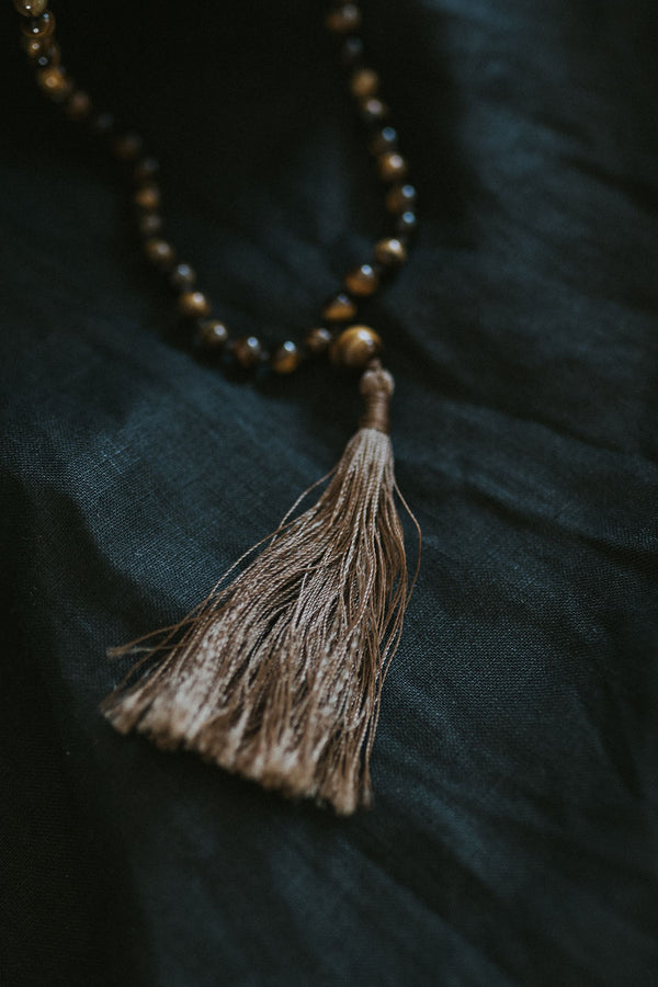 Tiger's eye Stone mala necklace