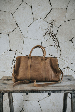 Men's Brown Leather duffle bag