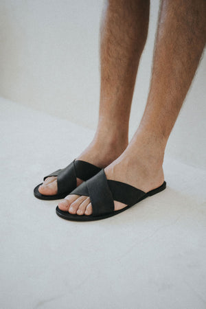 Men's leather sandals - COBÁ cross straps
