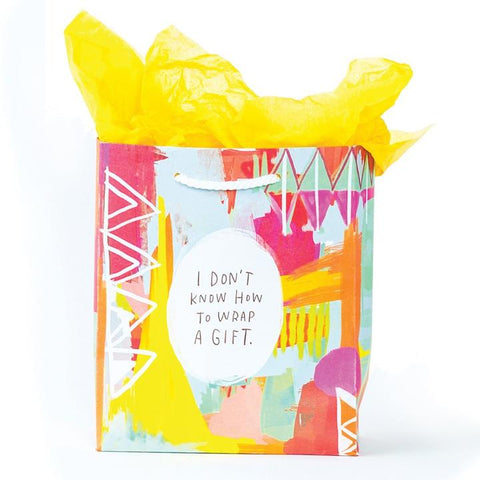 Emily McDowell gift bag - I don't know how to wrap a gift