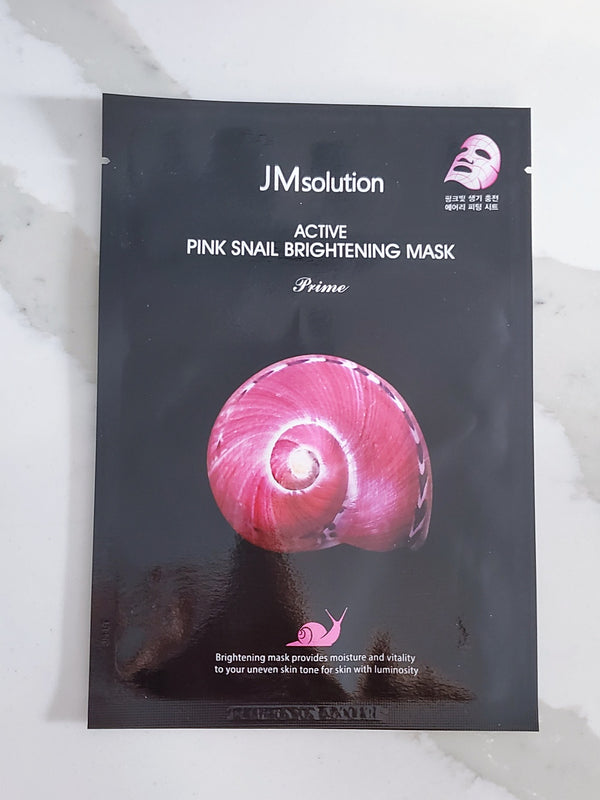 JMsolution Active Pink Snail Brightening Mask