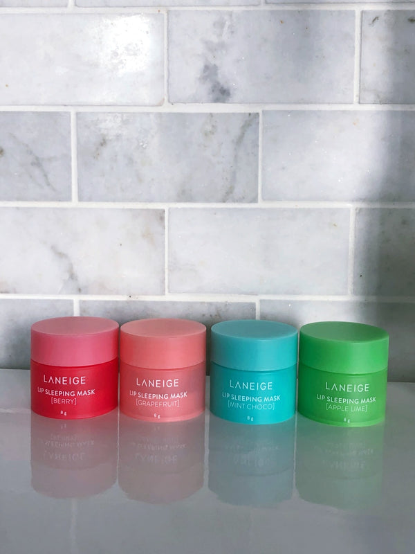 Laneige | Lip Sleeping Masks Set (Berry, Grapefruit, Apple Lime, Mint Choco)