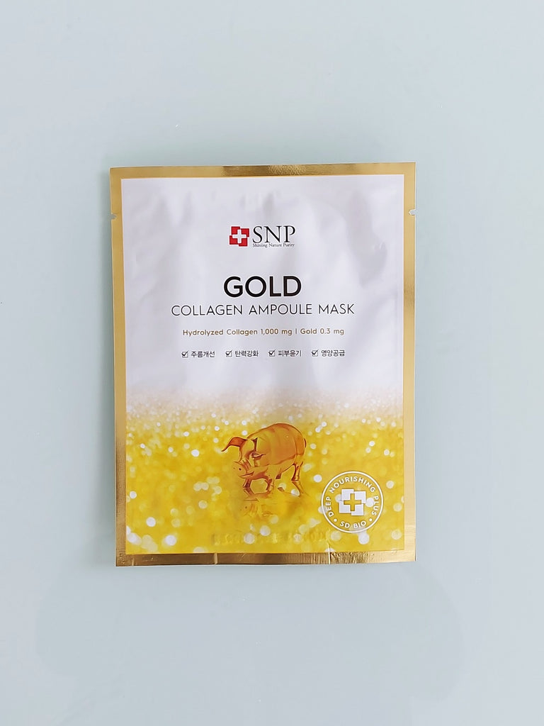 SNP Gold Collagen Ampoule Mask